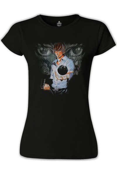 Lord T-Shirt Death Note - 3 Siyah Kadın T-Shirt
