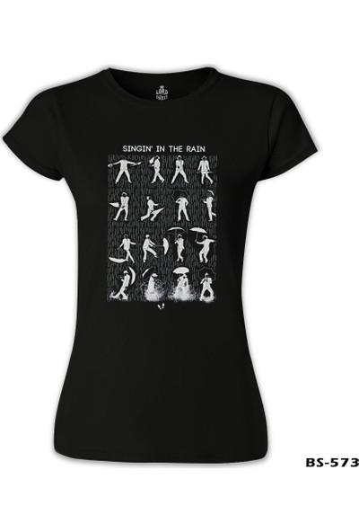 Lord T-Shirt Singin In The Rain Siyah Kadın T-Shirt