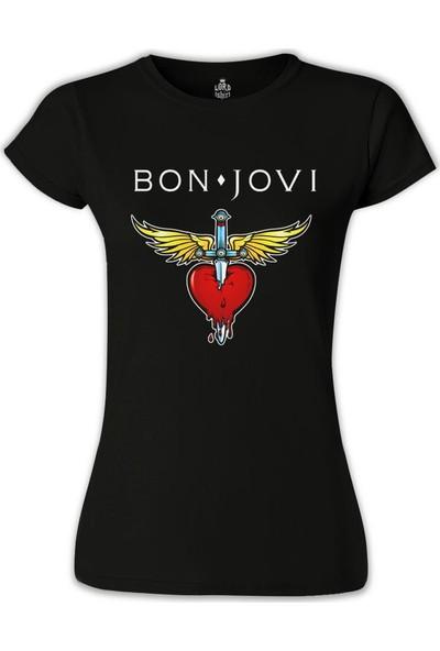 Lord T-Shirt Bon Jovi Siyah Kadın T-Shirt