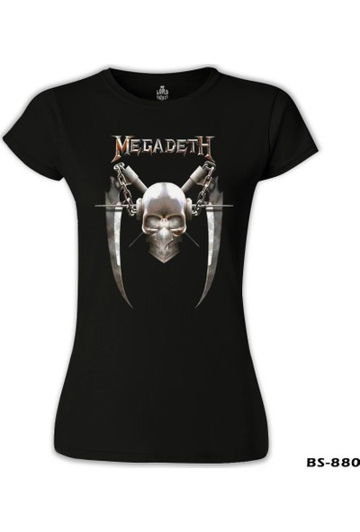 Lord T-Shirt Megadeth - Vic 6 Siyah Kadın T-Shirt