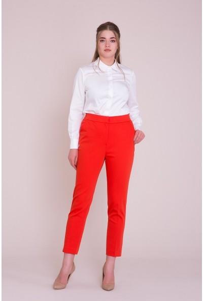 GIZIA Boru Paça Kırmızı Pantolon