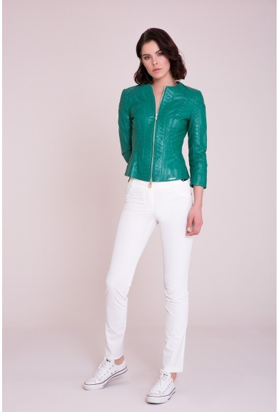 GIZIA Yeşil Deri Ceket