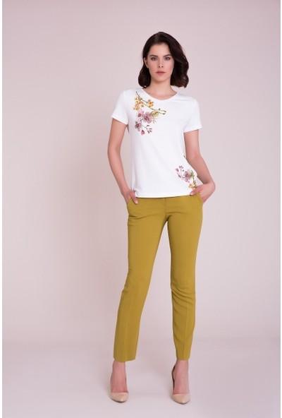 GIZIA Yağ Yeşili Rengi Pantolon