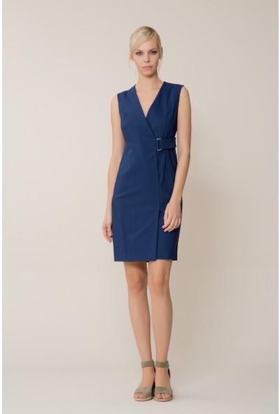 GIZIA Lacivert Mini Elbise