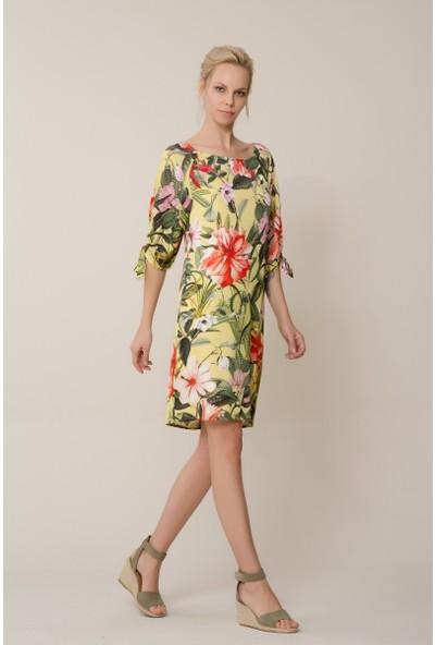 GIZIA Çiçek Desenli Mini Elbise