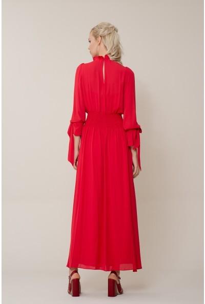 GIZIA Kırmızı Uzun Elbise