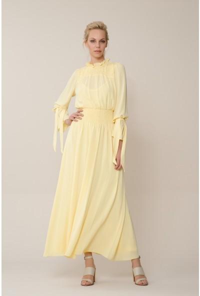 GIZIA Sarı Uzun Elbise