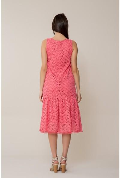 GIZIA Güpür Midi Elbise