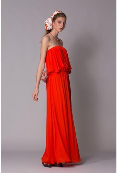 GIZIA Bağcık Taş Detaylı Uzun Elbise