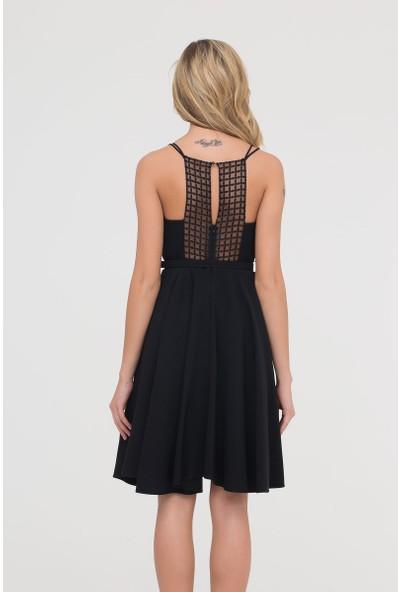 GIZIA Askılı Siyah Elbise