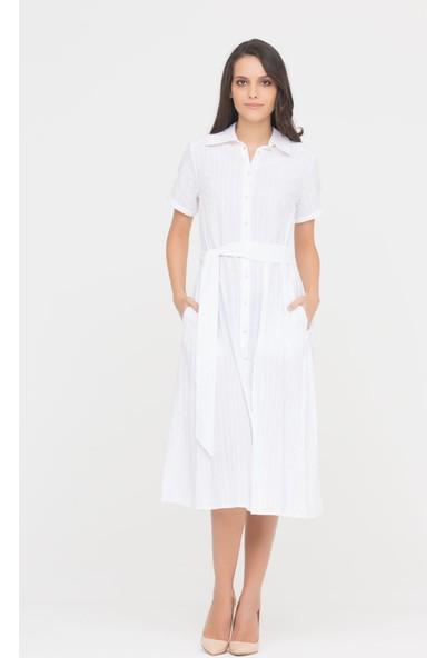 GIZIA Beyaz Gömlek Elbise