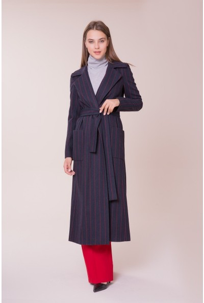 GIZIA Kemer Detaylı Palto