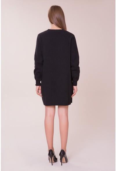 GIZIA Siyah Triko Elbise