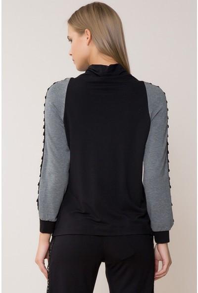 GIZIA Siyah-Gri Sweatshirt