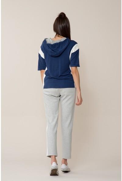 GIZIA Lacivert-Beyaz Sweatshirt