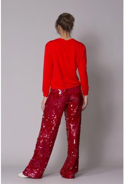GIZIA Kırmızı Sweetshirt