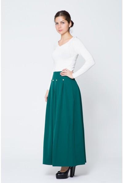 GIZIA Yeşil Uzun Etek