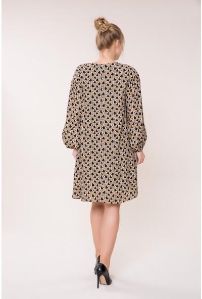 GIZIA Desenli Mini Elbise