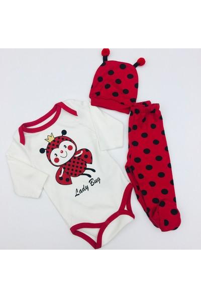 Minibird Kız Bebek Uğurböceği Body Takım