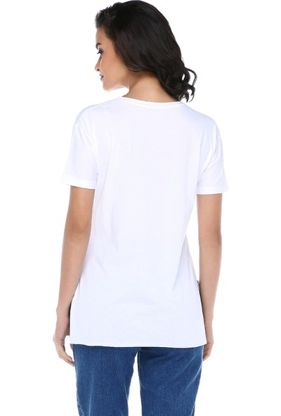 Graffin Kadın 5361 Beyaz T-Shirt