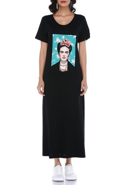 Graffin Kadın 8317 Siyah Elbise