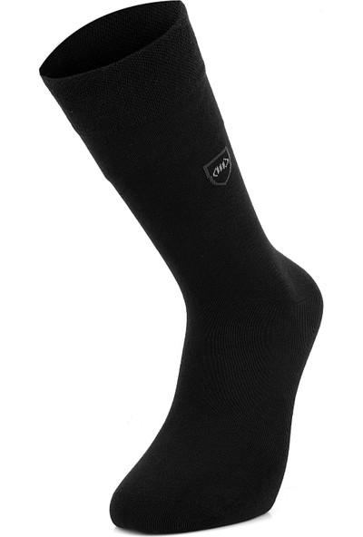 Mısırlı Modal Desenli 6 Çift Erkek Çorap Dikişsiz 2019 Yaz Sezonu Siyah