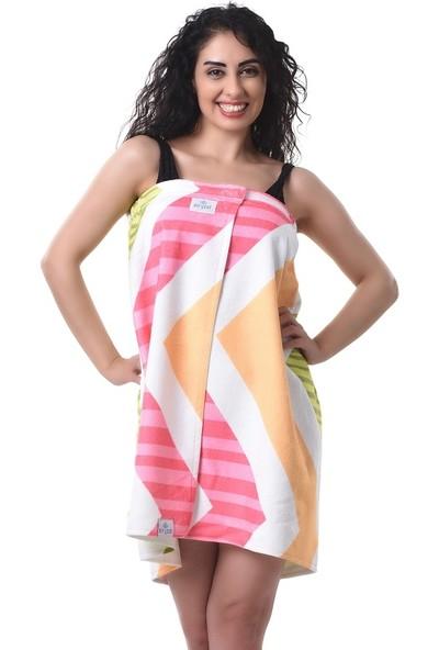 Airycot Kadın Pareo Plaj Eteği - Havlu Geo Zig-Zag