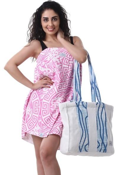 Airycot Kadın Pareo Plaj Eteği - Havlu Tiger Berry