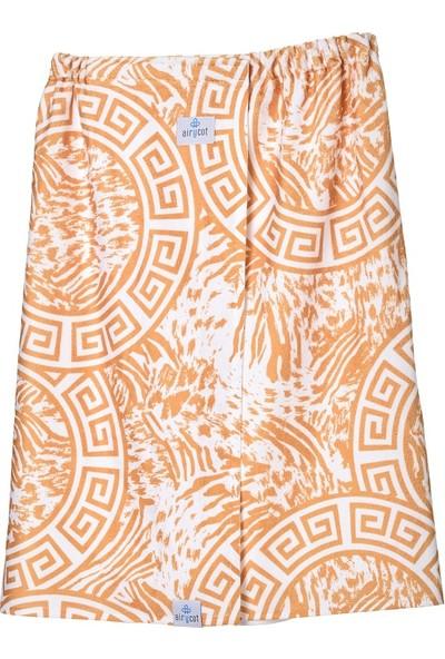 Airycot Kadın Pareo Plaj Eteği - Havlu Tiger Gold