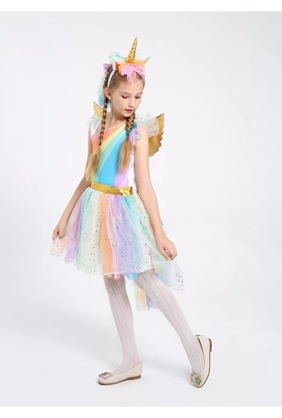 Unicorn Tül Etekli Kostüm Elbise