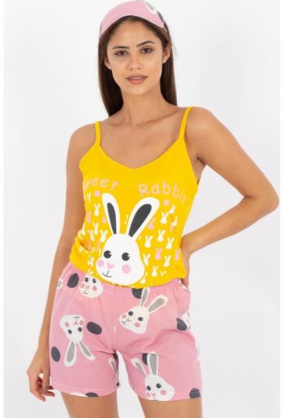 Hds Hadise Tavşan Baskılı Şortlu Pijama Takımı D4571T