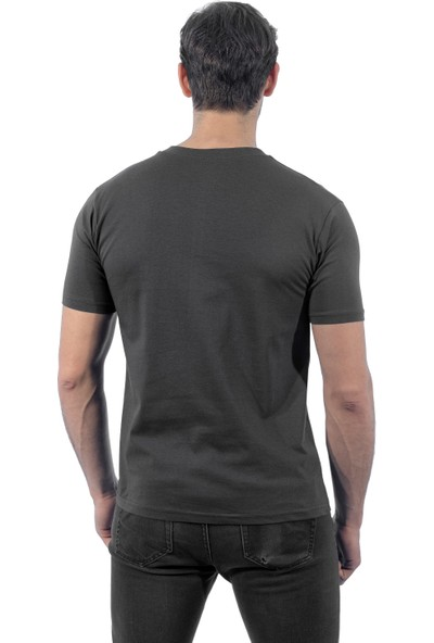 Şensel Tshirt V Yaka - Haki V Yaka T-Shirt