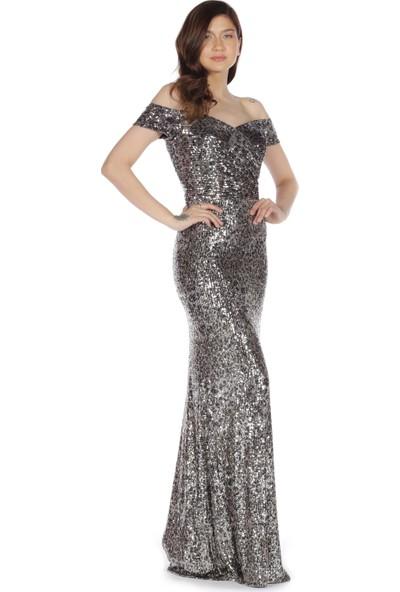Carmen Mor Straplez Uzun Balık Abiye Elbise