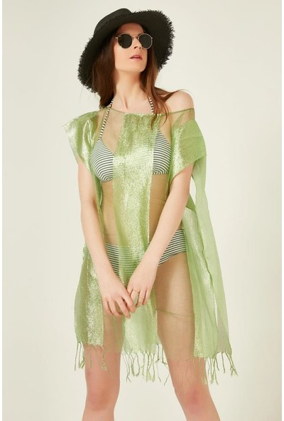 Axesoire 10727-1 Yeşil Renkli Pareo