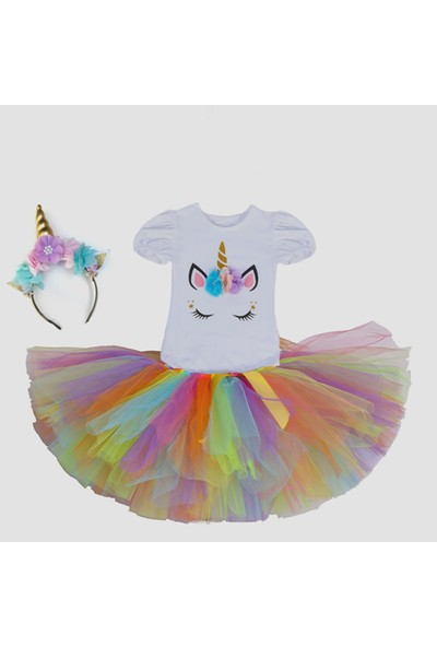 Bba New Trend Unicorn Taç Unicorn Tütü Etek 3 Lü Set