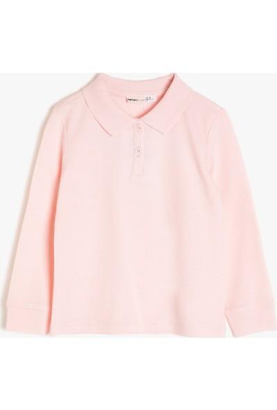 Koton Kız Çocuk Polo Yaka Sweatshirt