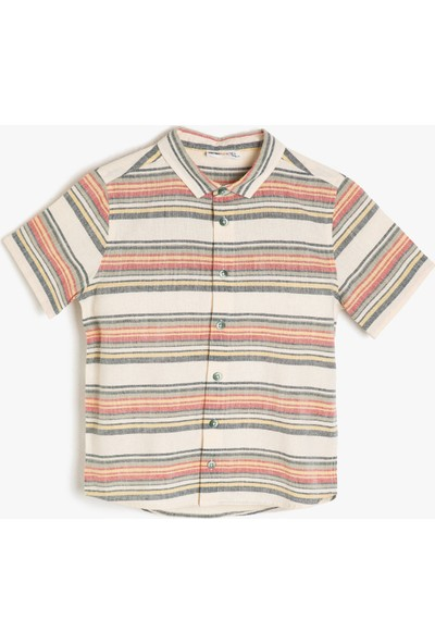 Koton Erkek Çocuk Çizgili Gömlek