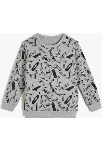 Koton Kız Çocuk Desenli Sweatshirt