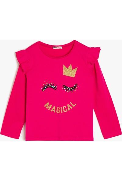 Koton Kız Çocuk Islemeli Sweatshirt