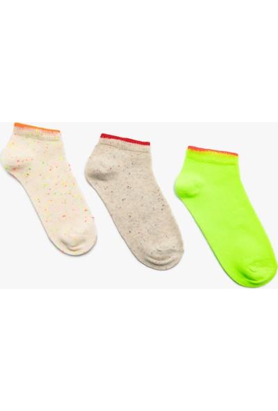 Koton Kız Çocuk 3'Lü Kız Çocul Çorap