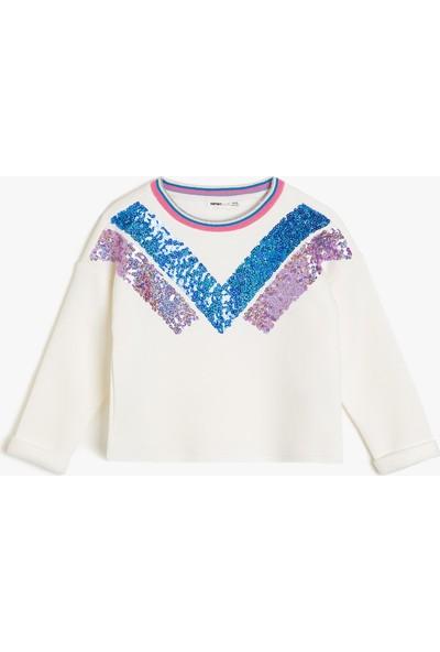 Koton Kız Çocuk Pul Detaylı Sweatshirt
