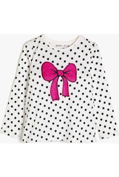 Koton Kız Çocuk Puantiyeli Sweatshirt