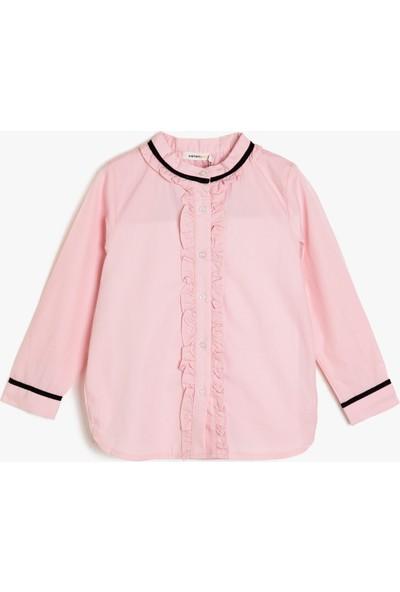Koton Kız Çocuk Firfir Detaylı Gömlek