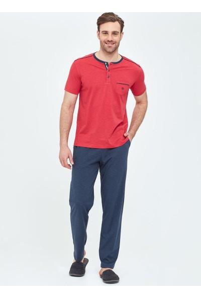 Dagi Erkek O Patli 3 Lü Pijama Takımı Kırmızı Melanj