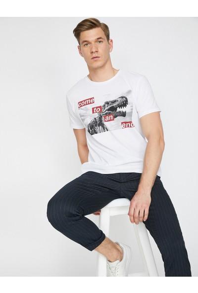 Koton Erkek Baskılı T-Shirt