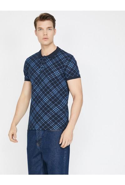 Koton Erkek Kareli T-Shirt
