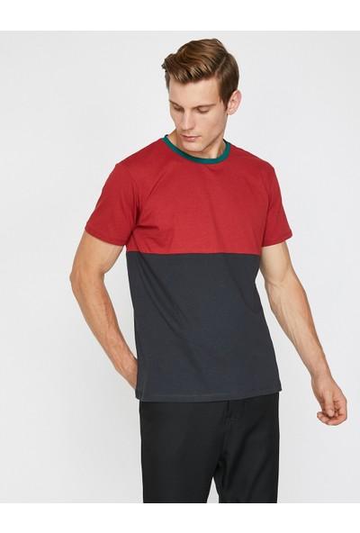 Koton Erkek Renk Bloklu T-Shirt