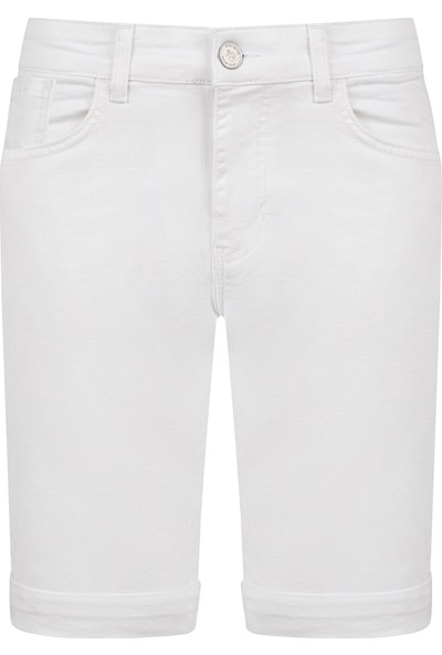Avva Erkek Beyaz 5 Cep Düz Şort A91S3602
