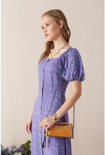 Freestar Kadın Omuz Askılı Mini Çanta-Hardal
