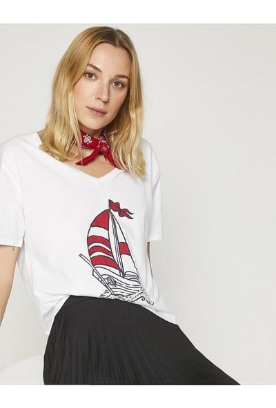 Koton Kadın Baskılı T-Shirt